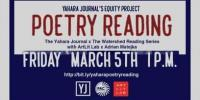 Yahara Journal Poetry Reading - March 5